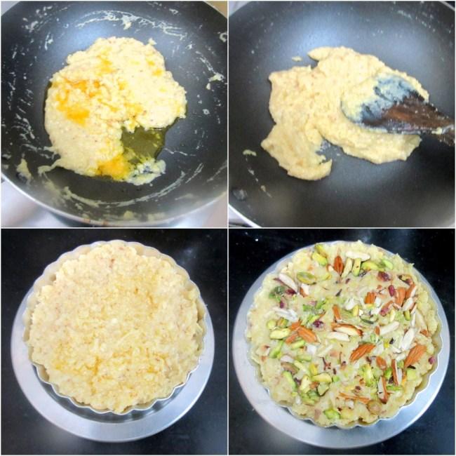 How to make Khoya Paneer Burfi with Condensed Milk 2