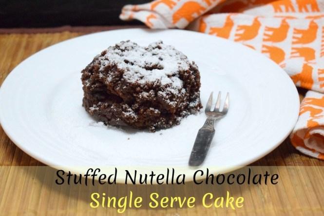 Stuffed Nutella Single Serve Microwave Chocolate Cake