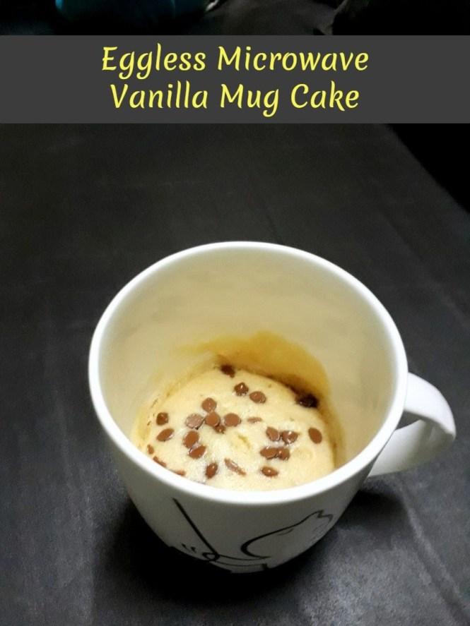 Eggless Microwave Vanilla Mug Cake