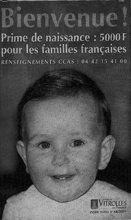 Vitrolles offers a bonus to French families only