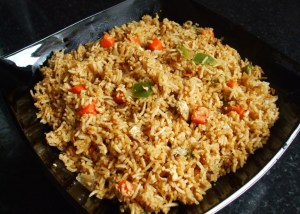 Fried rice with egg and vegetables