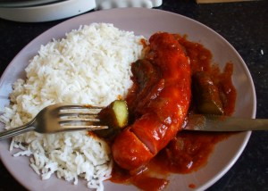 Rice with sausage madness