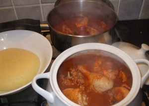 fufu with chicken light soup