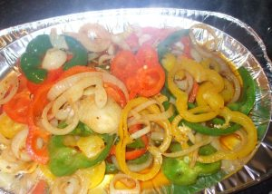 Tossed Mixed Peppers and Onions