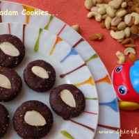 No bake cookies | Choco Almond Cookies without oven