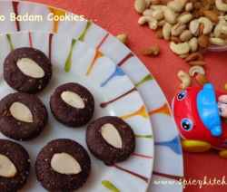 Choco-badam-cookies