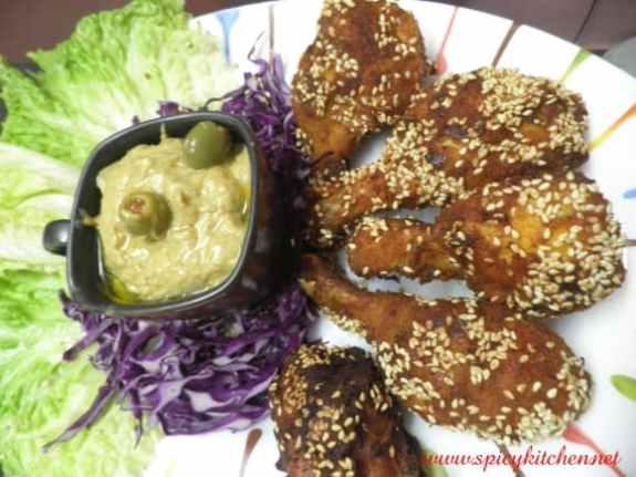 Chicken fry with Sesame seeds - Spicy Kitchen