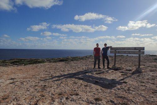 mein Travelmate und ich sind am Steep Point angekomen
