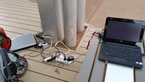 Batterien aufladen