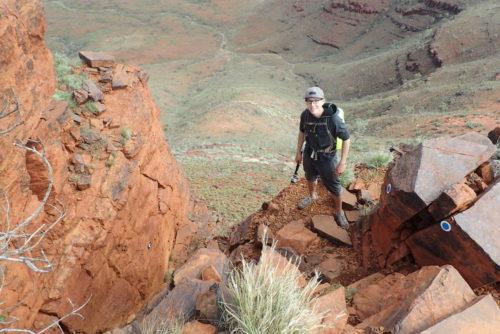 steiler Aufstieg am Mount Bruce