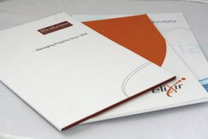 offset litho printed presentation folders