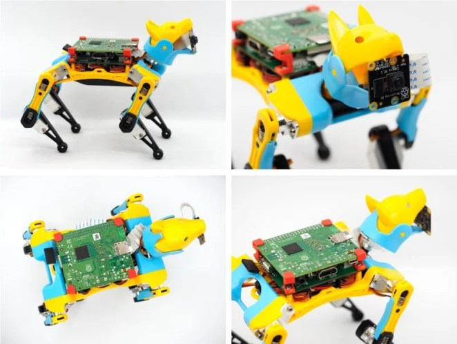 Arduino and Raspberry Pi provide the robot dog's controls and artificial intelligence
