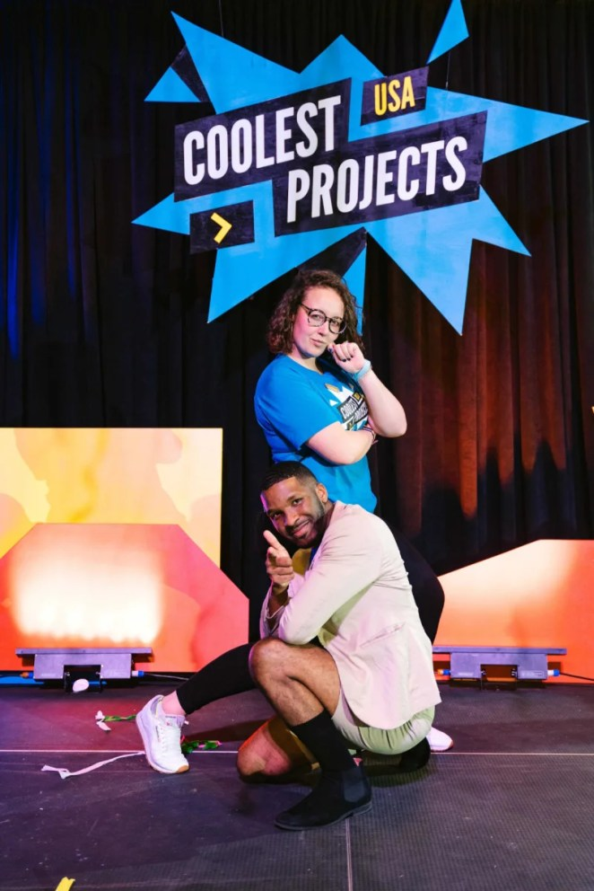 Christina and Kevin Johnson help oversee the big USA version of Coolest Projects!