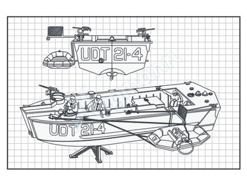 Udt Boat W Frogmen Revell Plastikbausatz Revell