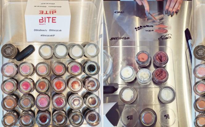 Mixing Lipsticks at Bite Lip Lab