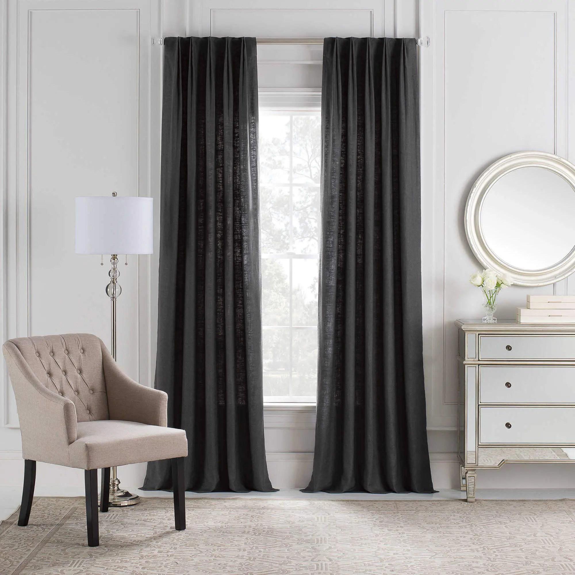 Plain Euro Triple Pinch Custom Curtains