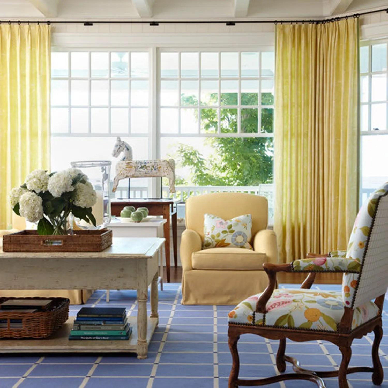 White Sheer Living Room Custom Curtains