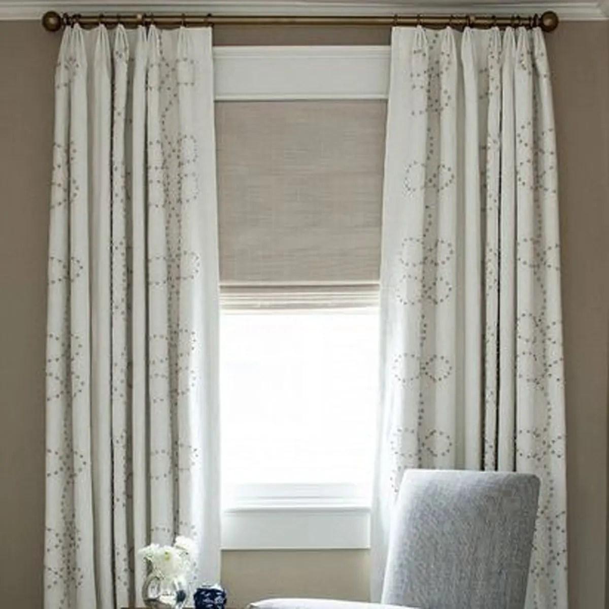 White Euro Triple Pinch Custom Curtains
