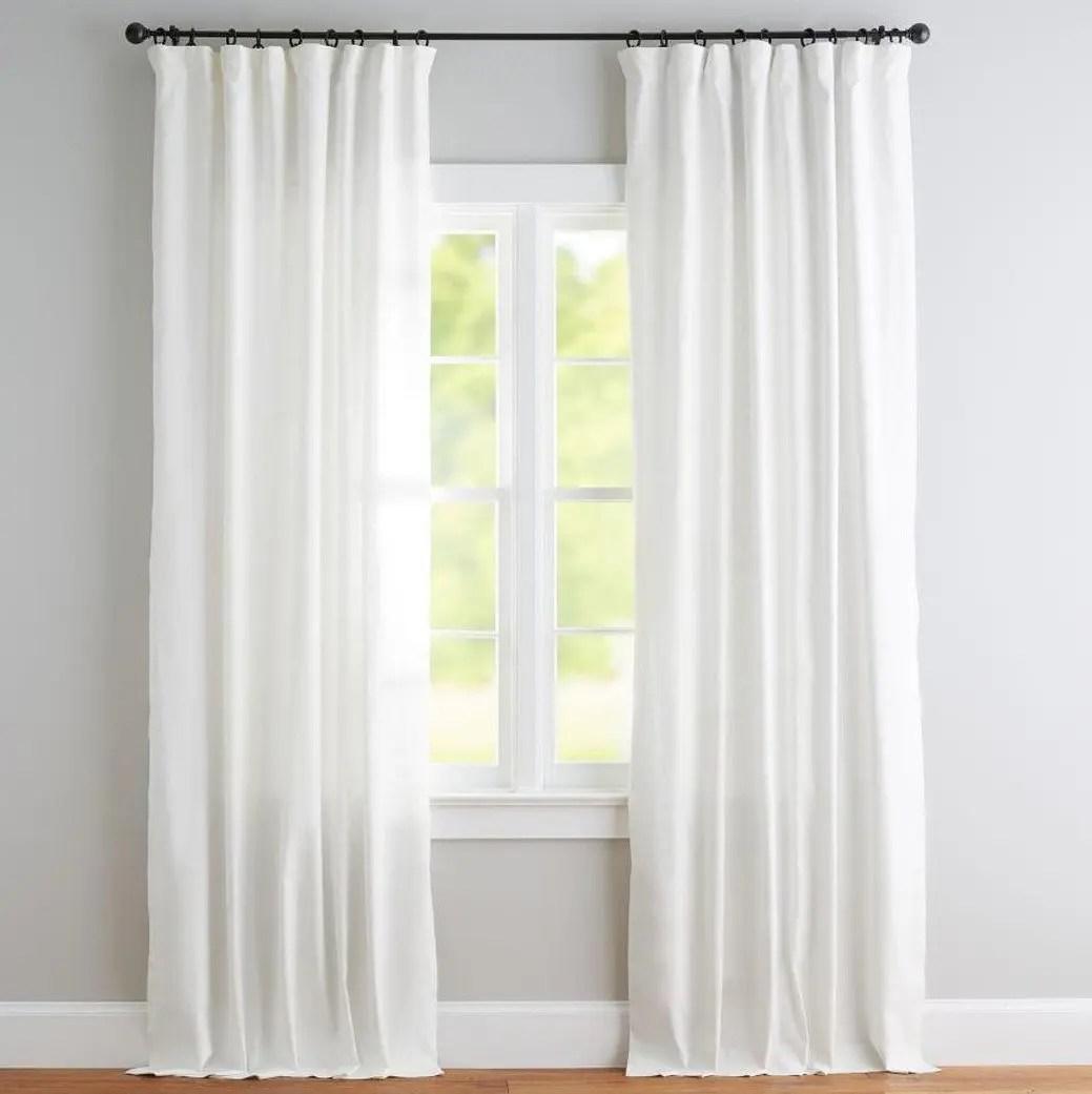 White Flat Panel Top Window Treatments