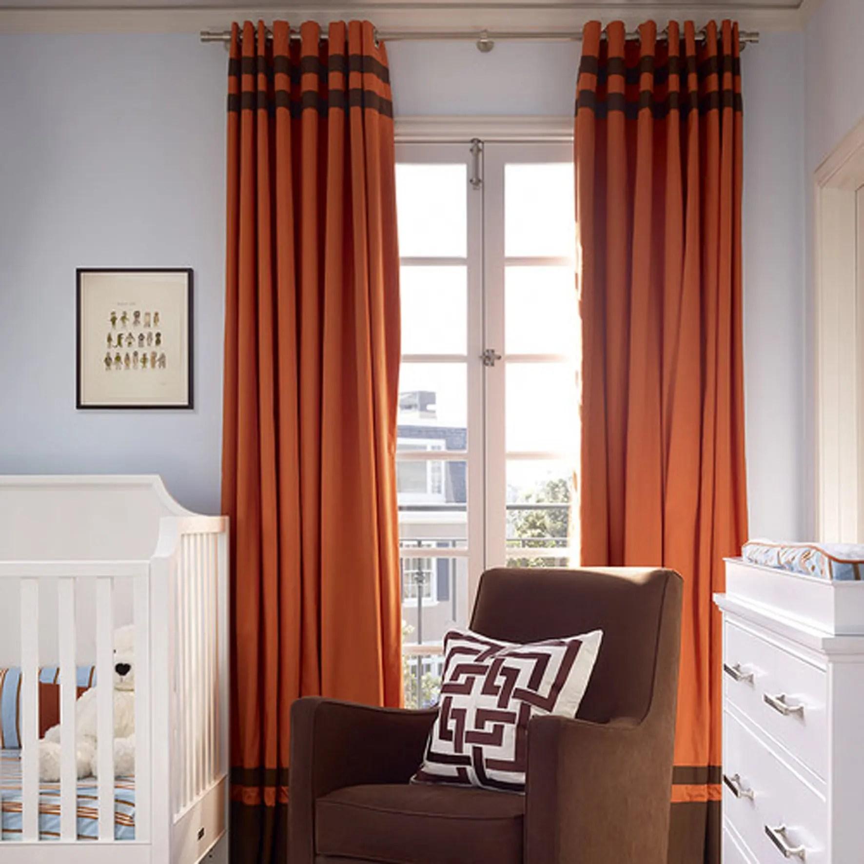 Orange Kids Room Custom Drapery