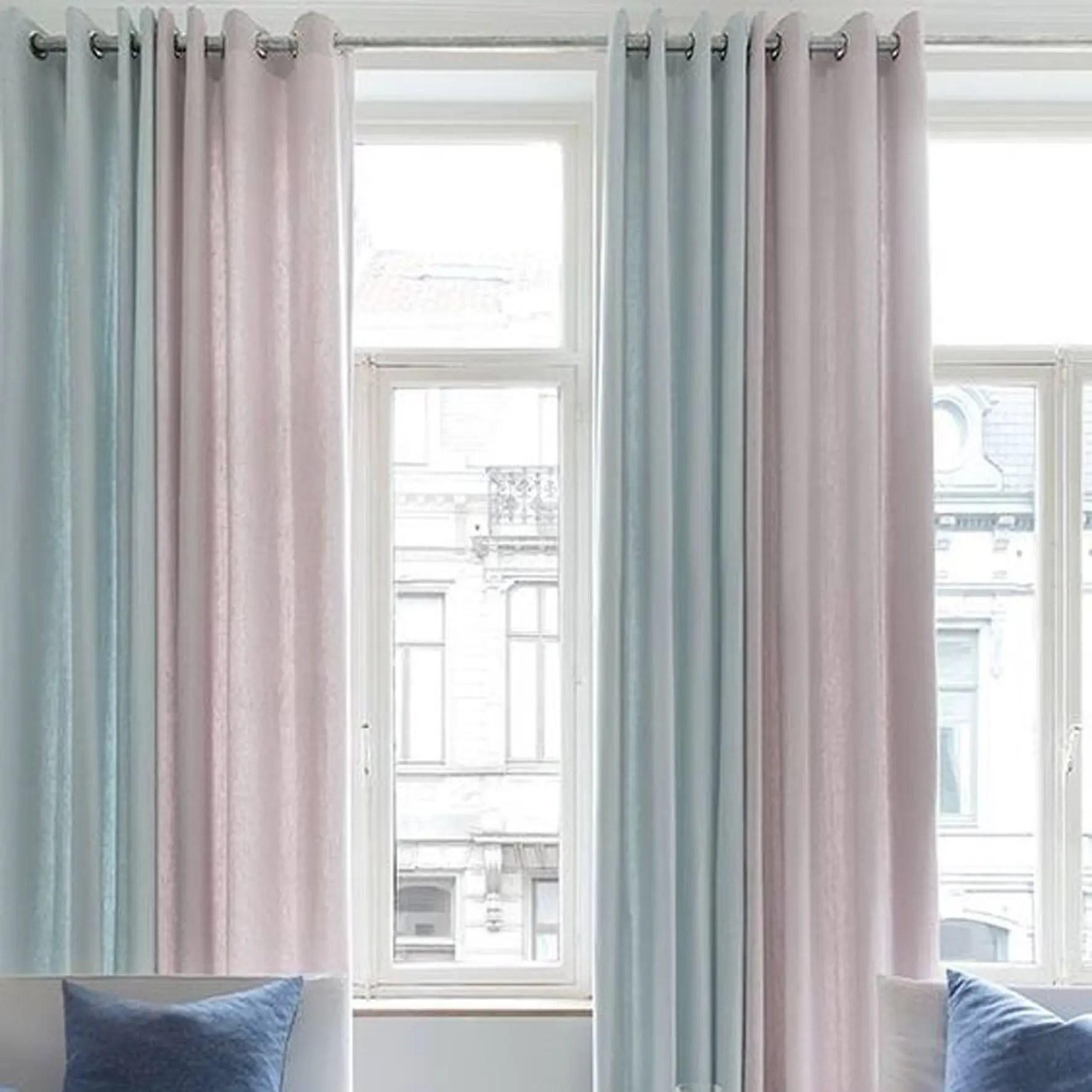 Plain Grommet Top Living Room Custom Curtains