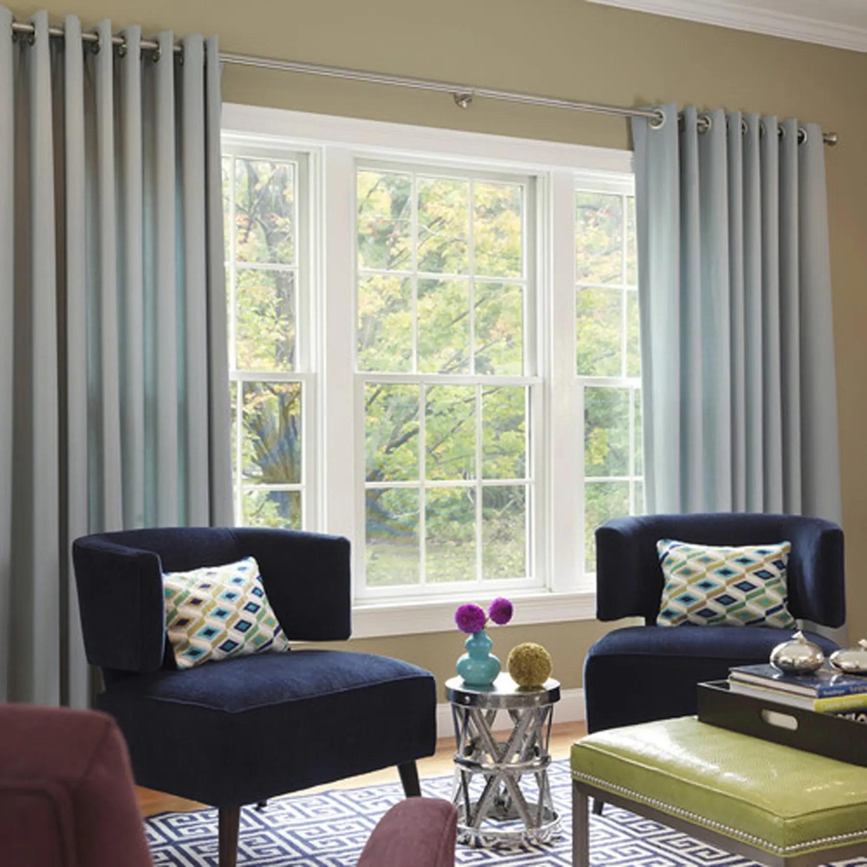 Plain Living Room Custom Curtains