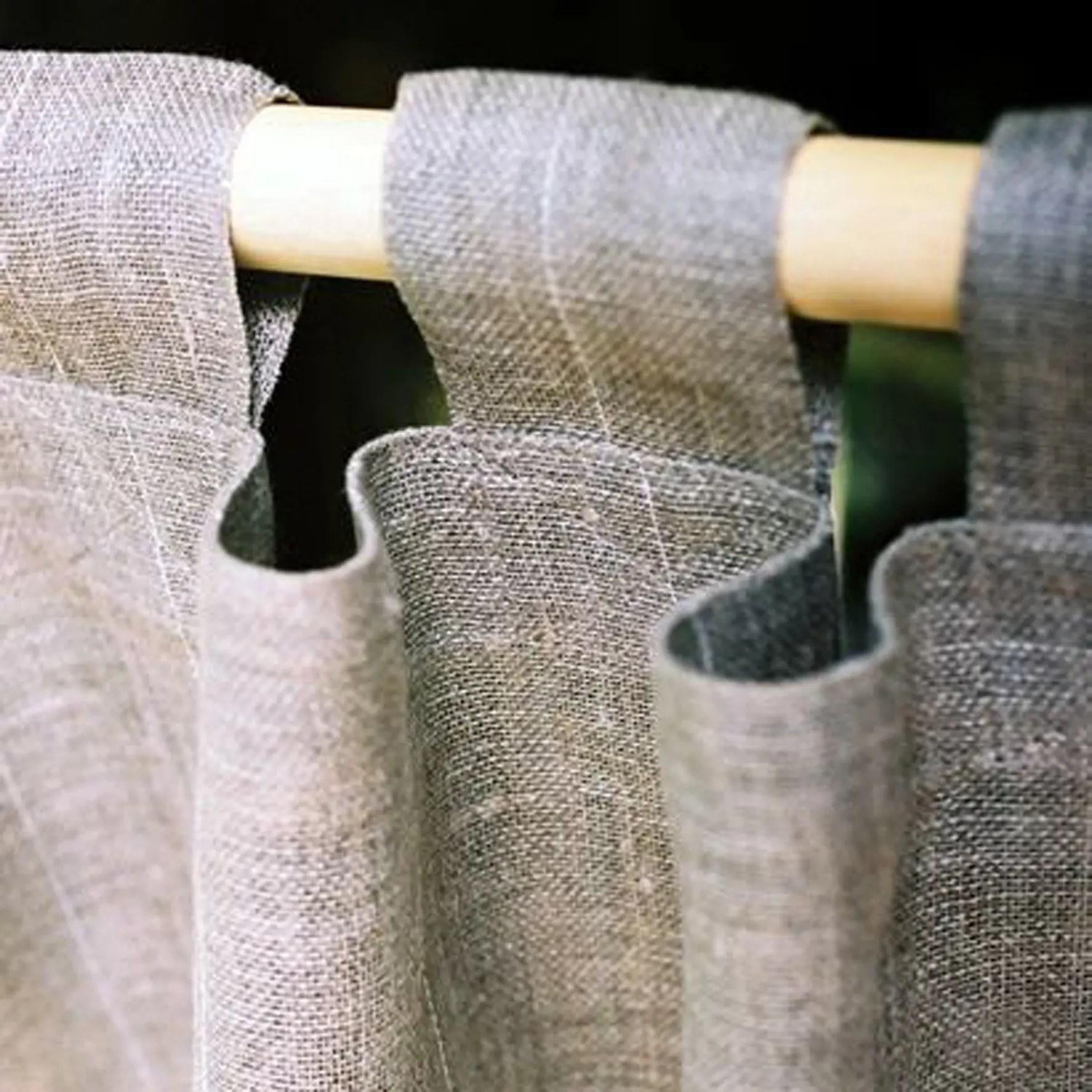 Grey Tab Top Custom Curtains