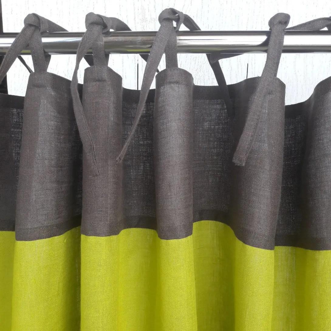 Plain Tie Top Custom Drapery