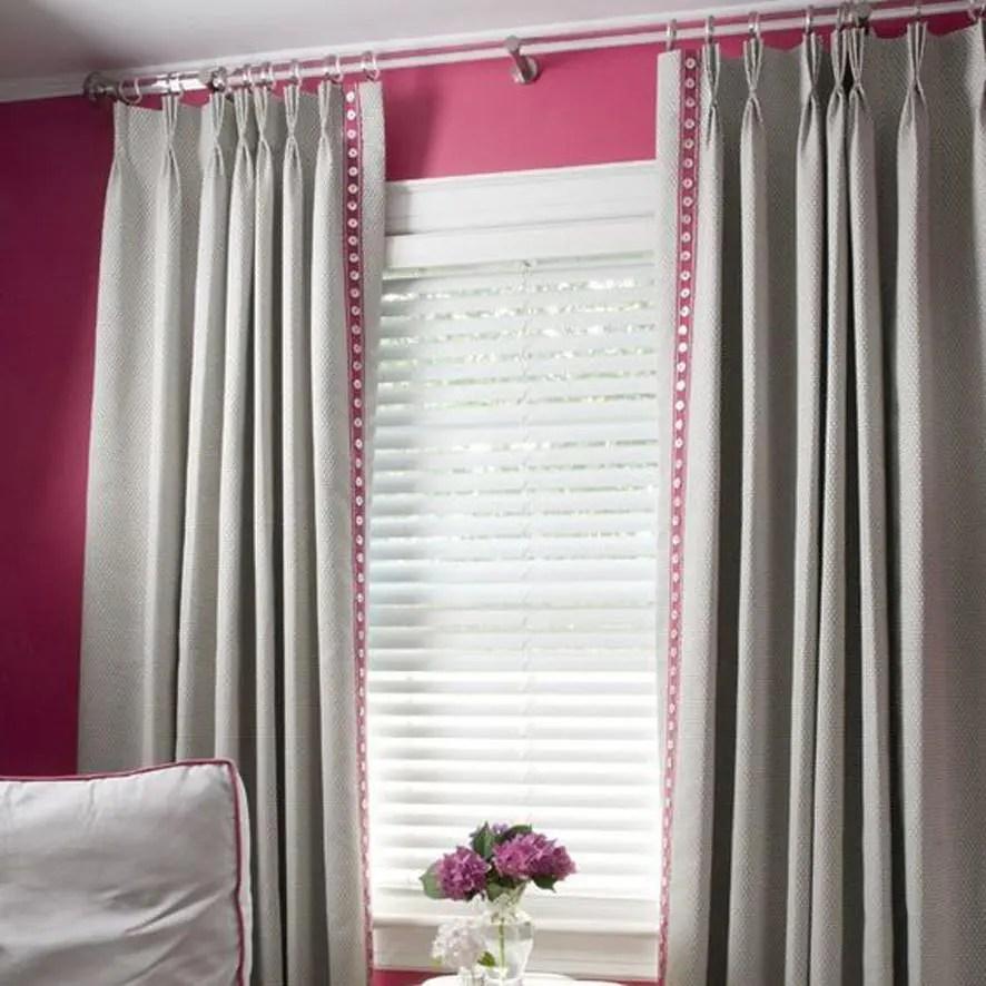 Plain Triple Pinch Custom Curtains
