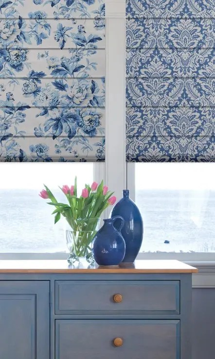 Floral & Damask Custom Roman Blinds