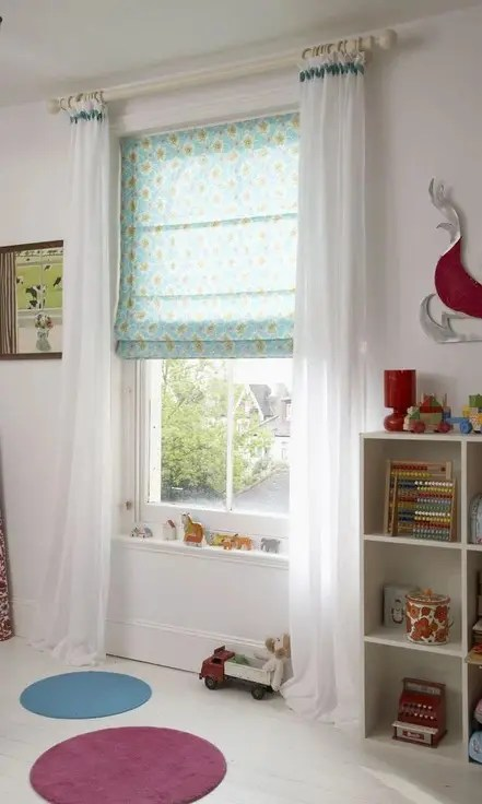 Printed Kids Room Custom Roman Shades