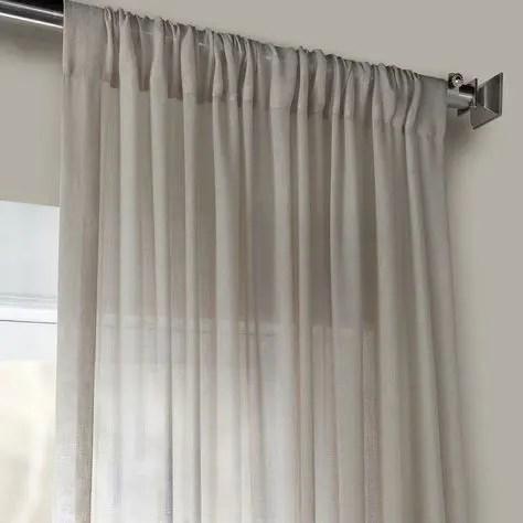 Grey Sheer Bathroom Custom Curtains
