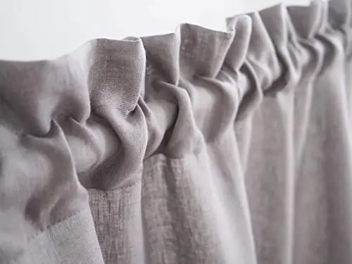Grey Sheer Rod Pocket Custom Drapes