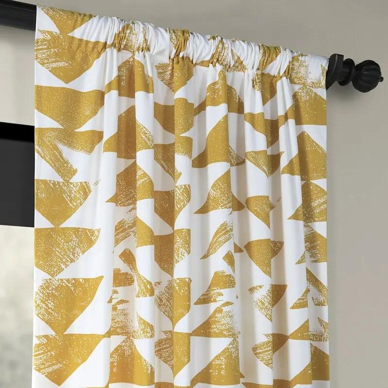 Printed Custom Rod Pocket Curtains