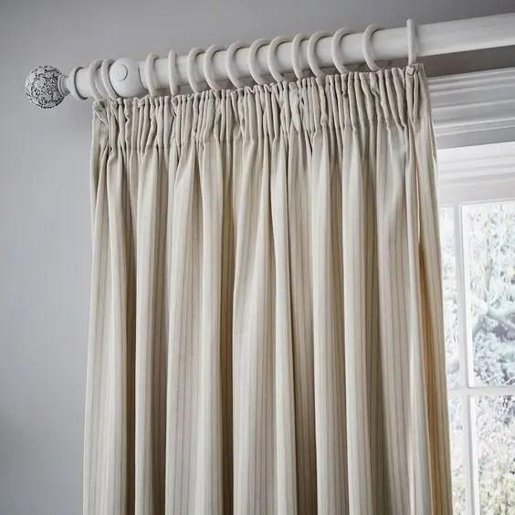 Pencil Pleat Bedroom Custom Curtains