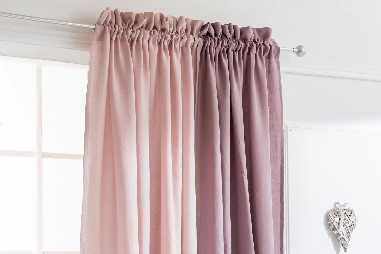 Pink Pencil Pleat Bedroom Custom Drapes