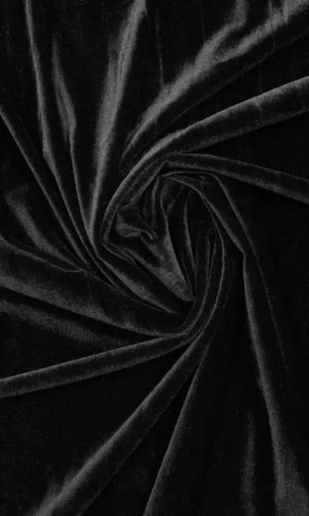 Black Velvet Custom Drapes