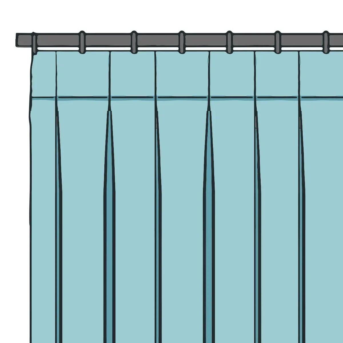 Inverted Box Pleat