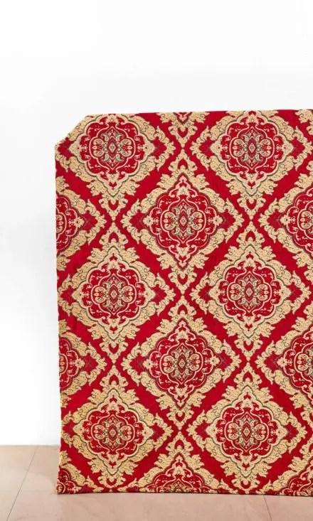 Floral Printed Custom Drapes & Roman Shades