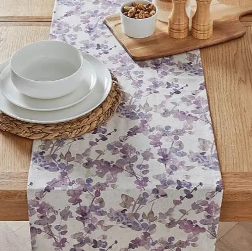 White & Purple Floral Table Top