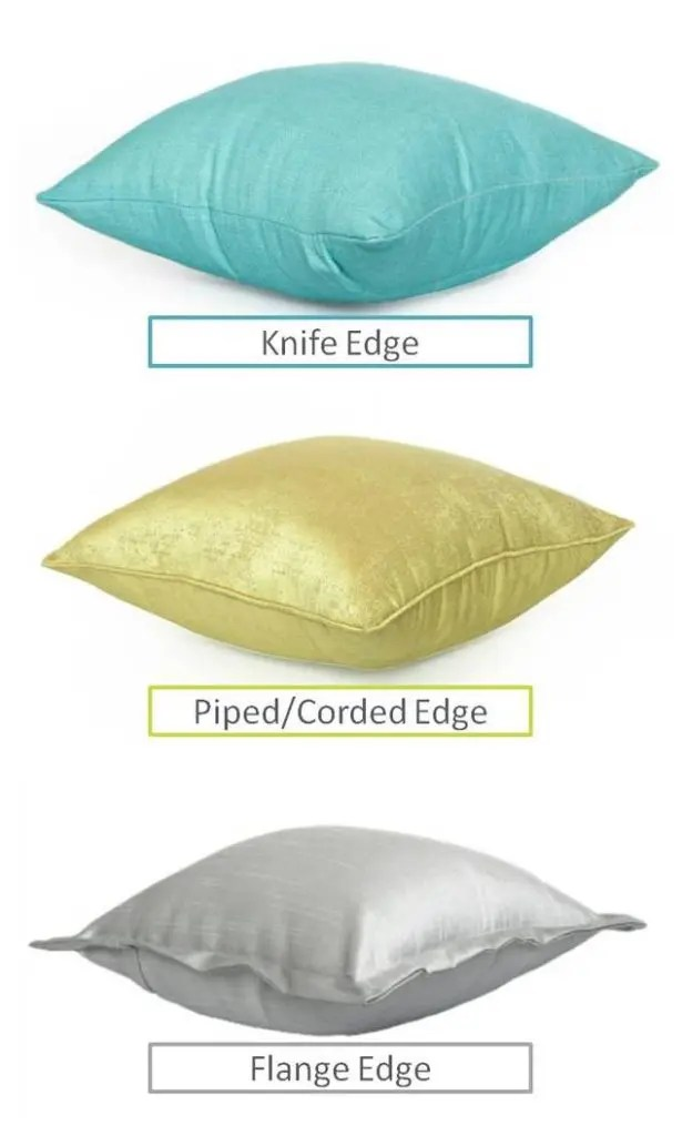 Knife Piped Flange Edge Cushions For Drawing Room
