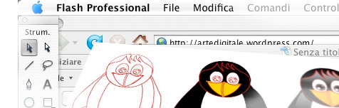 How To Vector Art Painting Linux Tux Using Flash Arte
