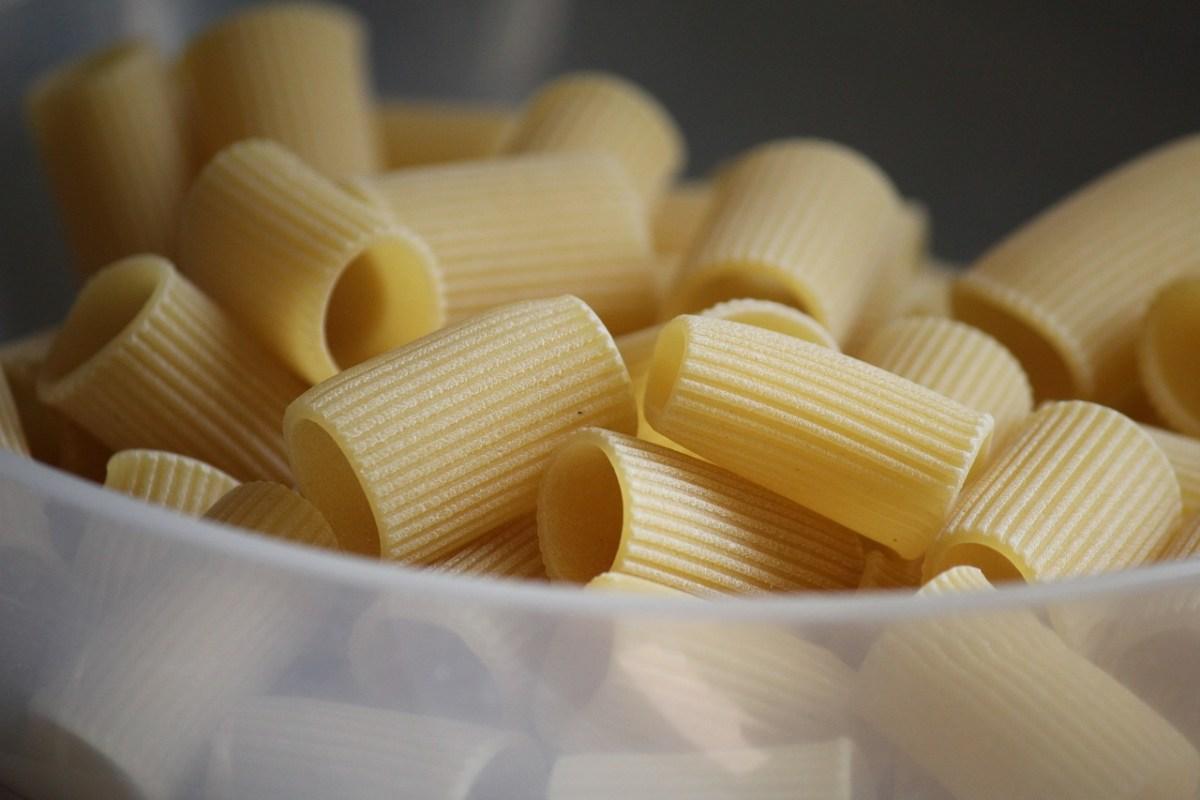 pasta rigatoni essiccati