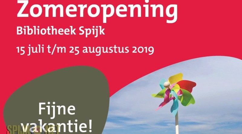openingstijden zomer 2019 bibliotheek spijk