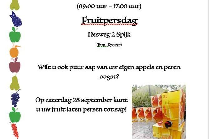 fruitpers dag