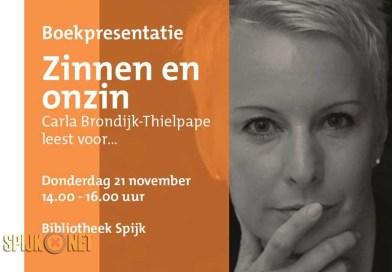Boekpresentatie Carla Brondijk-Thielpape