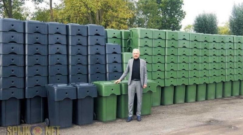 Vervanging grijze en groene containers
