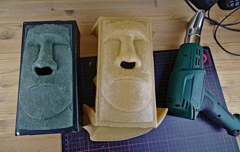 Moai Rohform mit Worbla erstellt
