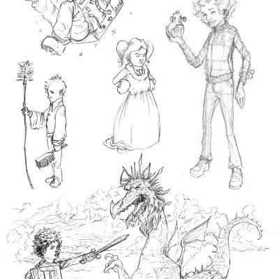 children sketches from november 2013