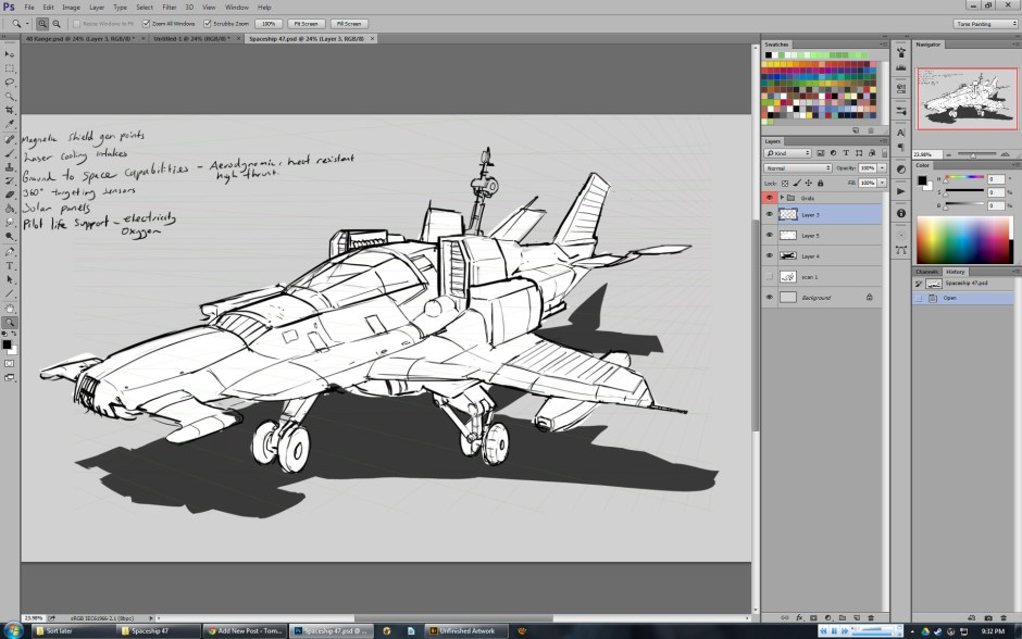 Concept art of space fighter